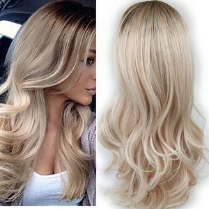 Accessories - Ombre Wig Brown Ash Blonde Synthetic Hair Wig